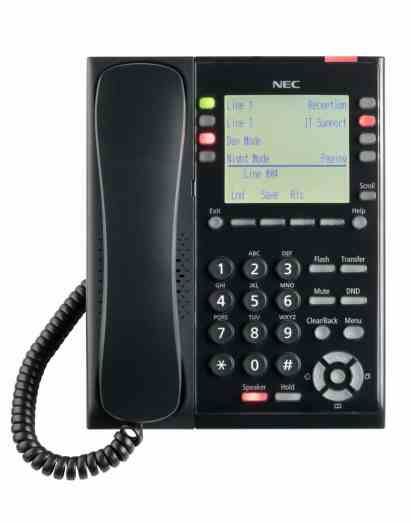 nec-sl2100-ip-self-labeling-telephone-front-view